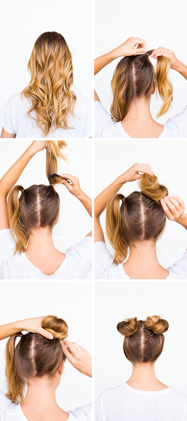 how-to-double-bun-hair-tutorial